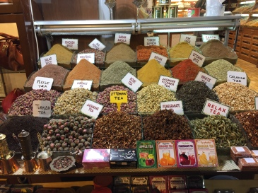 One of the hundreds of stalls in the Spice Bazaar