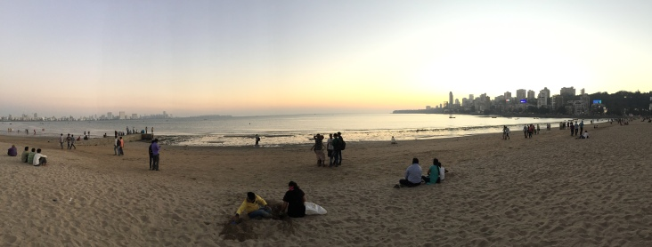 The beach in Mumbai