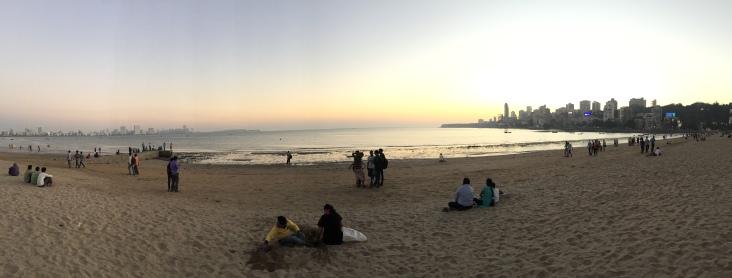 The beach in Mumbai
