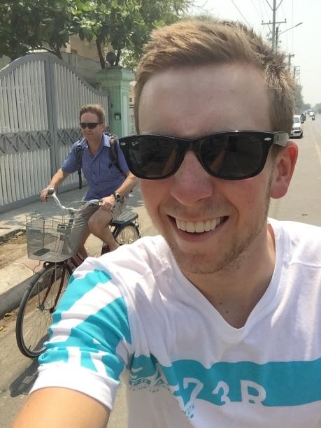 Riding slightly 'different' bikes around Mandalay