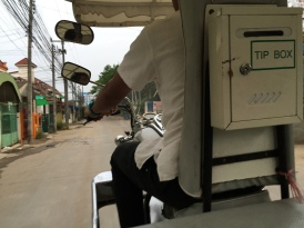 My first ride in a tuk-tuk
