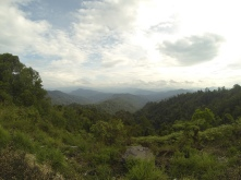 After a very long climb. The camera doesn't really do the view justice