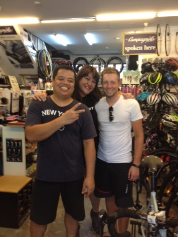 Massive thanks to Jim and Mel at T3 Bicycle Gears in Singapore. Made my bike feel like new again