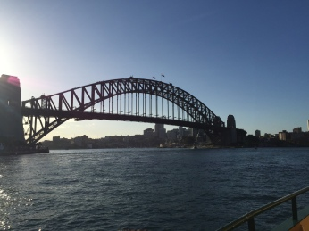 There's this bridge in Sydney Harbour.. not sure what it's called though