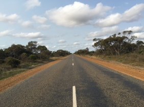 The first of many long straight roads