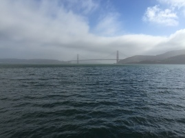 Despite driving over it, this is the best view I got of the Golden Gate Bridge